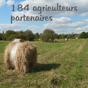 184 agriculteurs partenaires