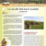 Lettre information Vallée des Eaux Claires (Charente) CEN-PC