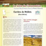 Lettre info Carrières de Mollets - déc. 2015