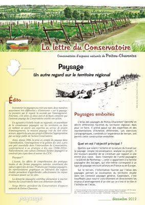 Lettre Paysage - dec. 2012 - CEN-PC