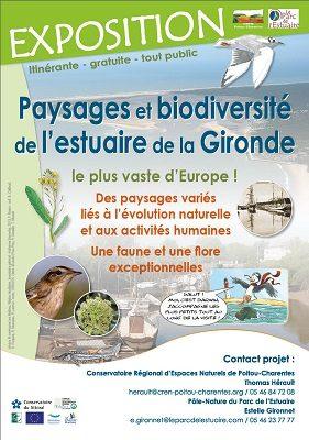 Exposition Paysages et biodiversité de l'Estuaire de la Gironde © CEN-PC