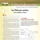 Lettre info Pelouses sèches - Juillet 2013