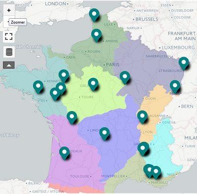 carte des producteurs - Végétal Local