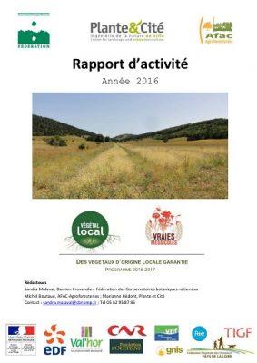 rapport d'activité 2016- Végétal Local
