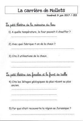 Extrait questionnaire scolaire
