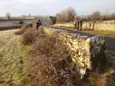 chantier d'entretien des murets (étudiants du lycée agricole de Melle)